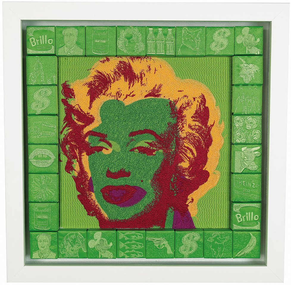 Stephen Wilson, Lime Marilyn 2017, Mixed Media